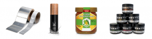 Fertige Etiketten auf Produkten