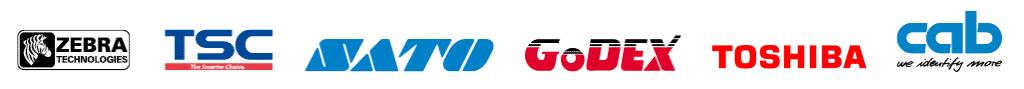 Zebra - TSC - SATO - GODEX - TOSHIBA - cab Logos