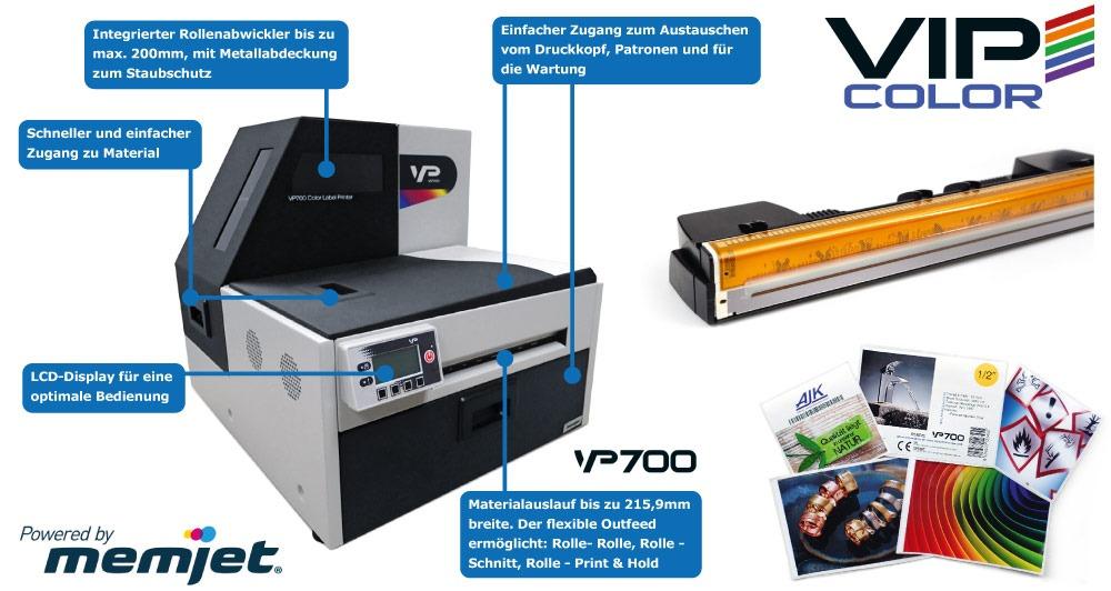 Vip Color VP700 Feature Übersicht